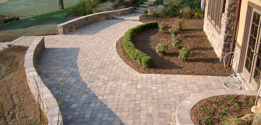 hardscape projects trace lawn landscaping